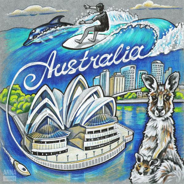 Иллюстрация Австралия