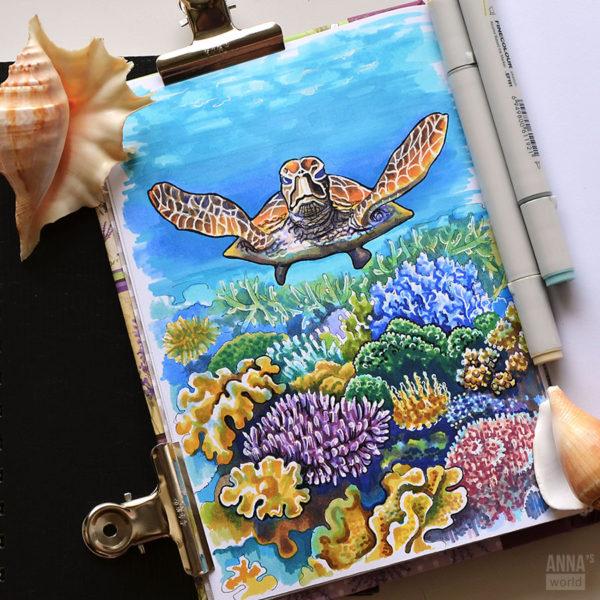 Иллюстрация Черепаха