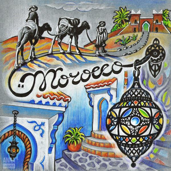 Иллюстрация Марокко