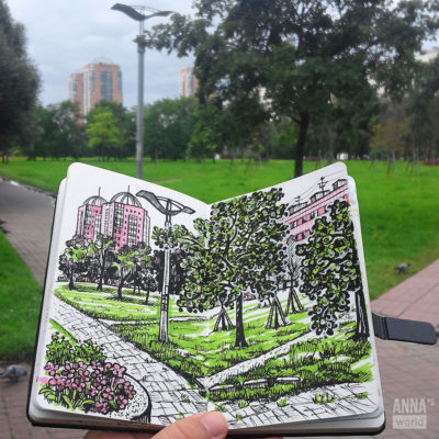 Пленэр: улица Турку Санкт-Петербург