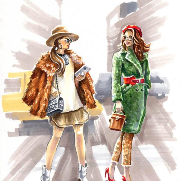Фэшн иллюстрация - fashion illustration