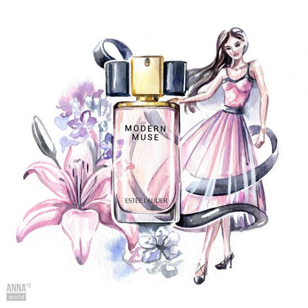 Фэшн иллюстрация парфюма