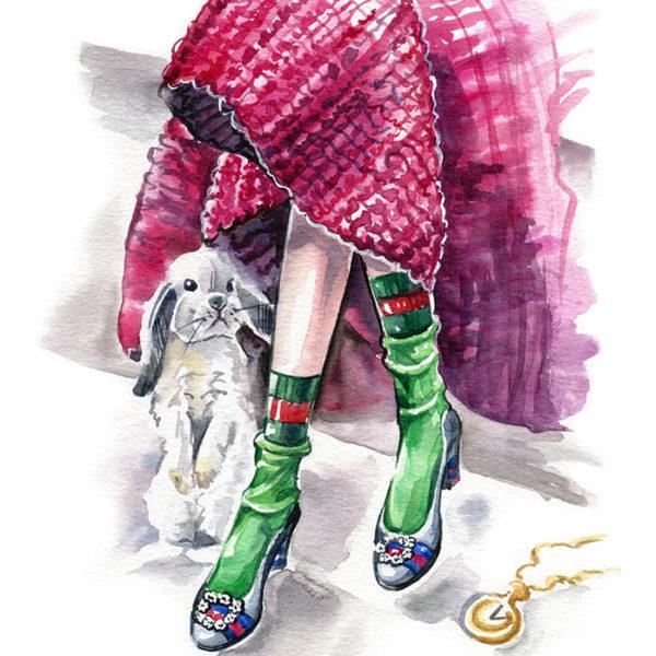 Фэшн иллюстрация туфли