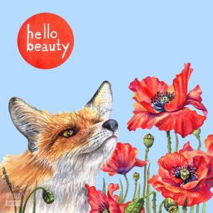 Иллюстрация для упаковки сывороток «Hello Beauty»