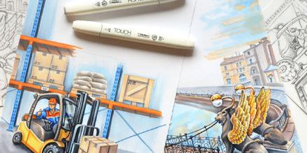Иллюстрации для корпоративного календаря